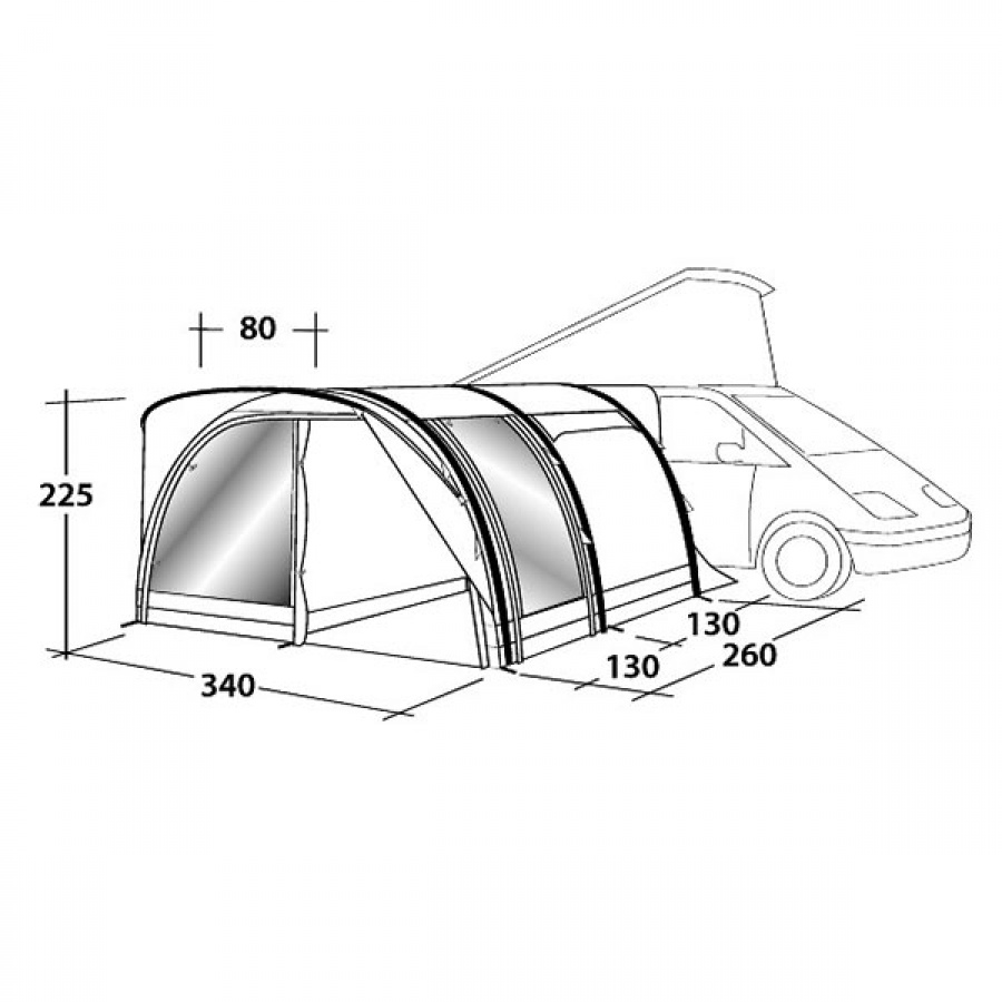 Outwell Hollywood Freeway Tall Driveaway Air Awning